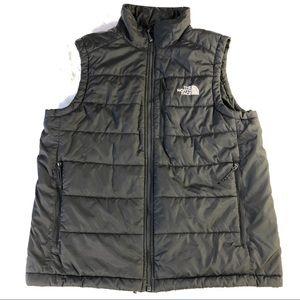 The North Face charcoal primaloft vest/M
